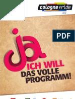 Programmheft ColognePride 2012