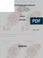 Diabetes e hipertenção slide