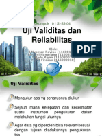 Uji Validitas Dan Reliabilitas