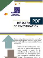 DIRECTRICES DE INVESTIGACIÓN