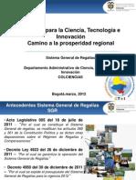 Intercambio de Secretarias Departamentales - Regalías para la Ciencia, la Tecnología y la Innovación, camino a la prosperidad regional.