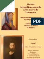 Novedades en El Museo Sacro - 24 de Mayo de 2012