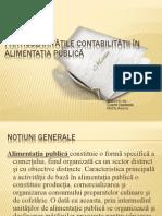Particularităţile contabilităţii în alimentaţia publică şi servicii