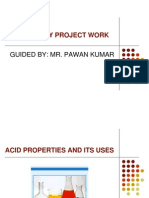 Acids Properties and Its Uses