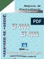 Manual Electrofusionadora