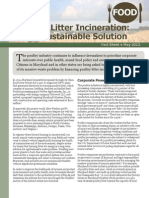 Poultry Litter Incineration