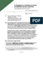 Raghavendra Letter To Judge Hon. Pitman