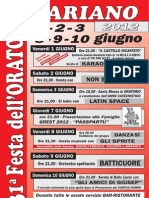 Festa Oratorio 2012 Manifesto