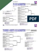 Resultados Torneio Aberto Badminton