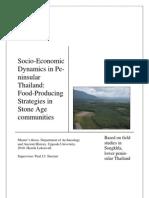 Henrik Lekenvall. Master´s thesis. Socio Economic Dynamics in Peninsular Thailand. Food Producing Strategies in Stone Age Communities