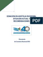 DONACIÓN EN ASISTOLIA EN ESPAÑA. SITUACIÓN ACTUAL Y RECOMENDACIONES