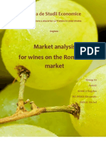 Market Analysis for Wines on the Romanian Market- Final