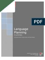 Summary on Language Planning