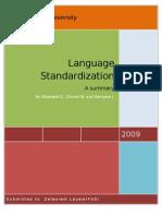 Language Standardization
