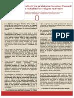 Les propositions du Collectif du 31 Mai pour favoriser l'accueil des étudiants et diplômés étrangers en France