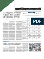 22.05.2012 - El Comercio. Economía p. 7 Costos laborales