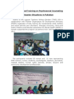 TWB-Supported Training on Psychosocial Counseling in Disaster Situations in Pakistan
