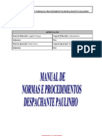 Manual de Normas e Procedimentos Despachante Paulinho