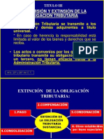 TRANSMISION Y EXTINCIÓN DE LA OBLIGACION TRIBUTARIA  CLASE 2012-I