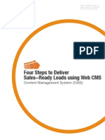 4 Steps to Deliver Sales Ready Leads Using Web Cms