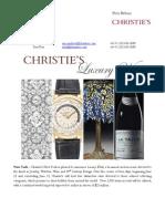 Luxury Week at Christie's New York ~ 12-15 June 2012