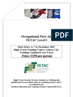 Occupational First Aid - FETAC 5