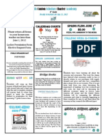 Newsletter 5-25-2012