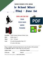 2012 6th Grade Mixer Party Invitation