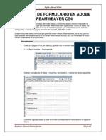CREACIÓN DE FORMULARIO EN ADOBE DREAMWEAVER CS4