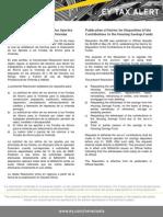 Tax Alert 2012- Normas para la Disposición de los Aportes a los Fondos de Ahorro para la Vivienda