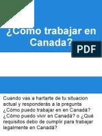 Trabajar en Canada legalmente