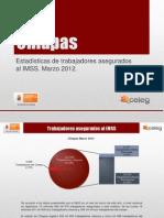 Estadísticas IMSS Marzo 2012
