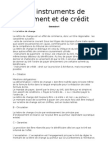 Les instruments de paiement et de crédit