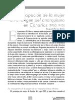 La Participacion de La Mujer en El Origen Del Anarquismo en Canarias