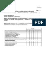 FT-AD-029-02 Evaluación al desempeño del prestador