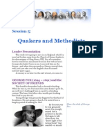 Leader Session 5--Quakers and Methodists