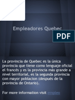 empleadores Quebec