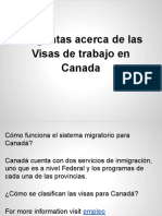 Visas de Trabajo en Canada