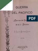 Guerra del Pacífico. Apuntes del capellán de la 1a. División P. Ruperto Marchant Pereira. (1914)