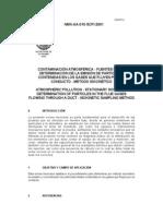 NMX AA 010 SCFI 2001FuentesFijasParticulasIsocinetico