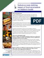 Food Environment Fact Sheet - Smart Cities, Healthy Kids