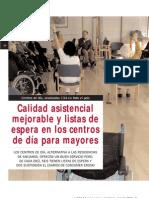 Calidad asistencial mejorable y listas de espera en los centros de día para mayores
