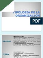 Pres Tipologia de La Organizacion