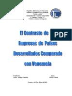 Diferencias entre empresas en países desarrollados y Venezuela LISTO