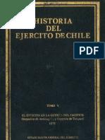 Historia del Ejército de Chile. Tomo V. El Ejército en la guerra del Pacífico. Ocupación de Antofagasta y Campaña de Tarapacá 1879.