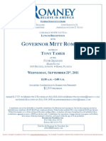 Lunch Reception for Romney for President