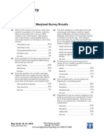Maryland Marriage Equality Poll - May 2012