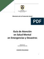 Guia Atencion en Salud Mental Emergencias y Desastres
