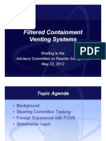 ML12143A336 - Filtered Containment Venting Systems Advisory Committee on Reactor Advisory Committee on Reactor Safeguards Safeguards May 22, 2012