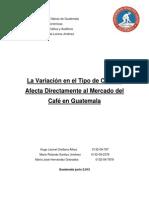 TRABAJO FINAL Riesgos (Riesgo de Mercado - Cafetalera